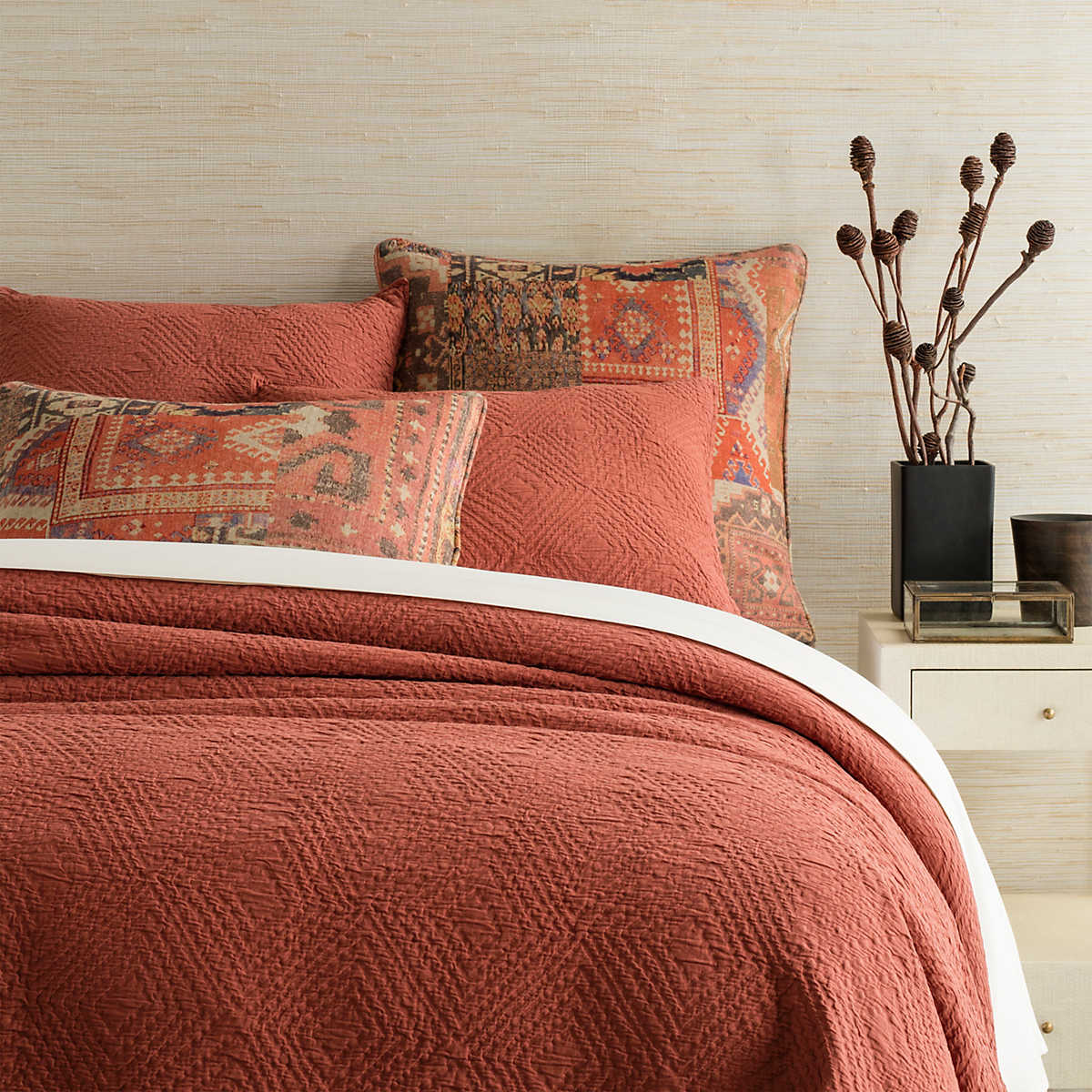 Kerala Spice Matelass 233 Coverlet Pine Cone Hill
