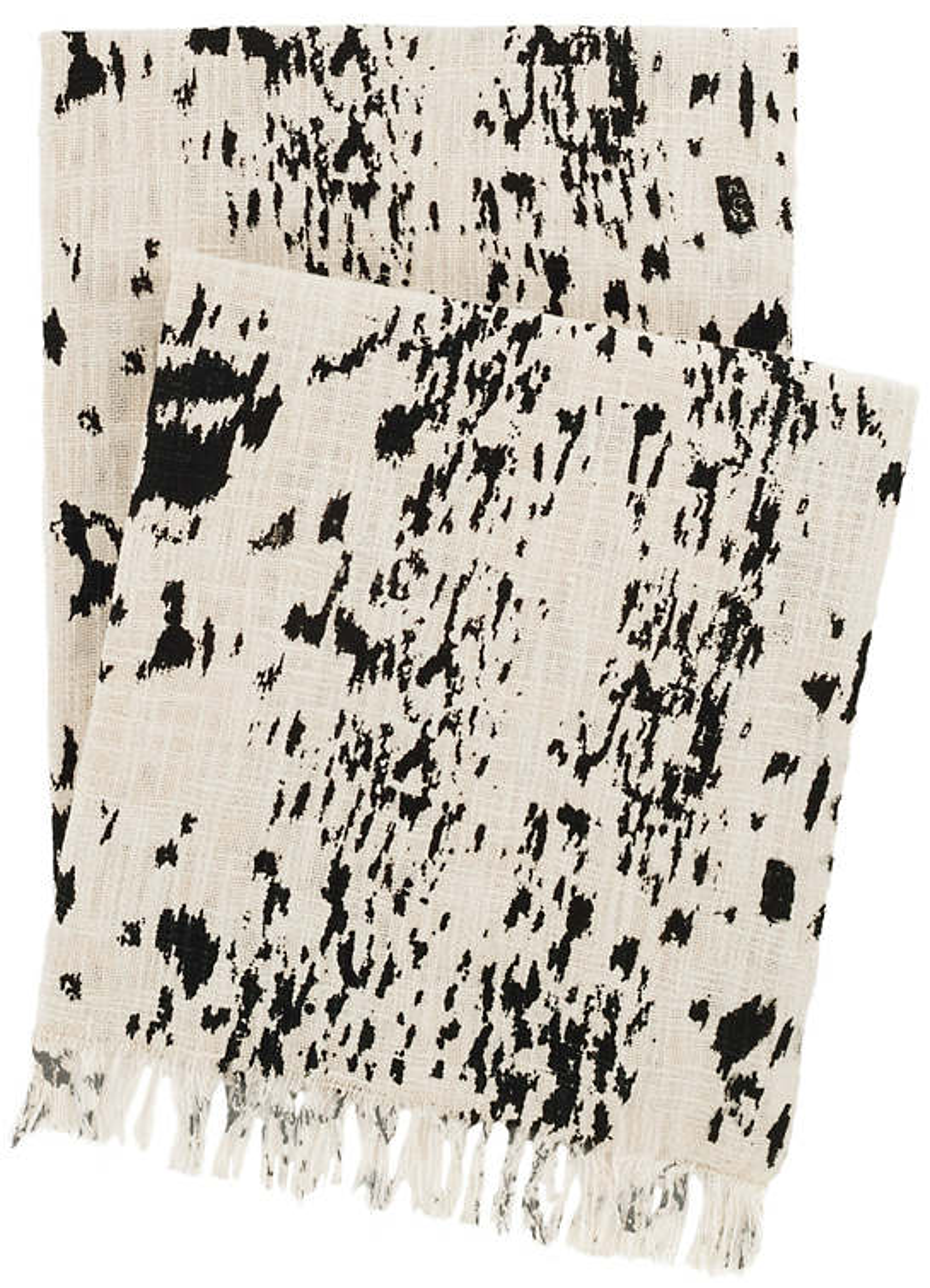 Kipling Ivory/Black Throw