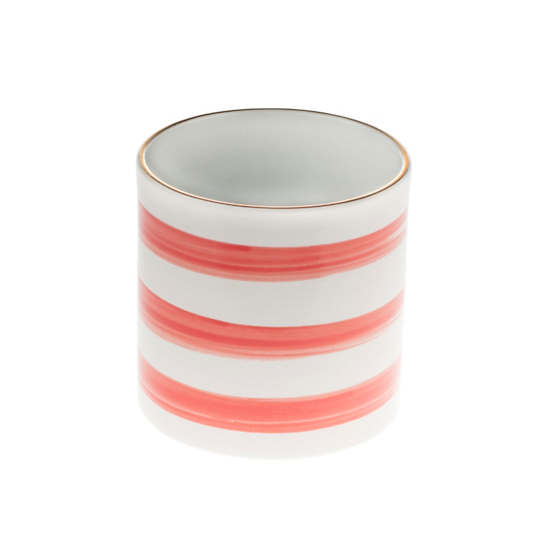 Kissed Speedy Stripe Peony Cylinder Vase