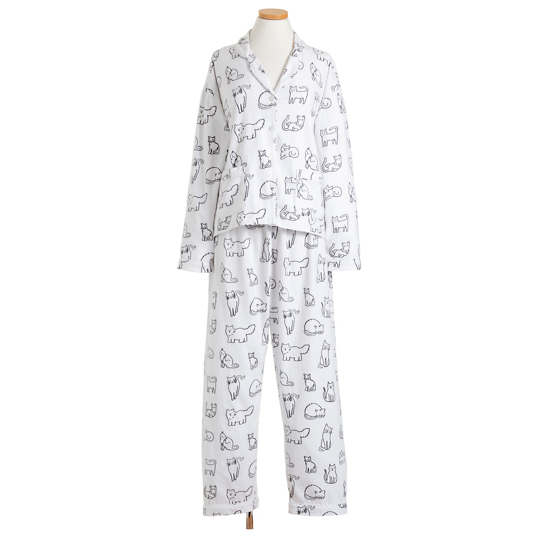 Kitty Doodle Flannel Pajama