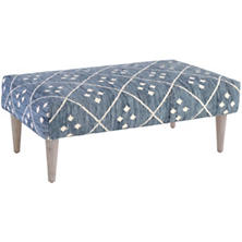 Kota Indigo Tapered Cerused Oak Leg Rug Ottoman