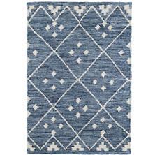 Kota Indigo Woven Wool Rug
