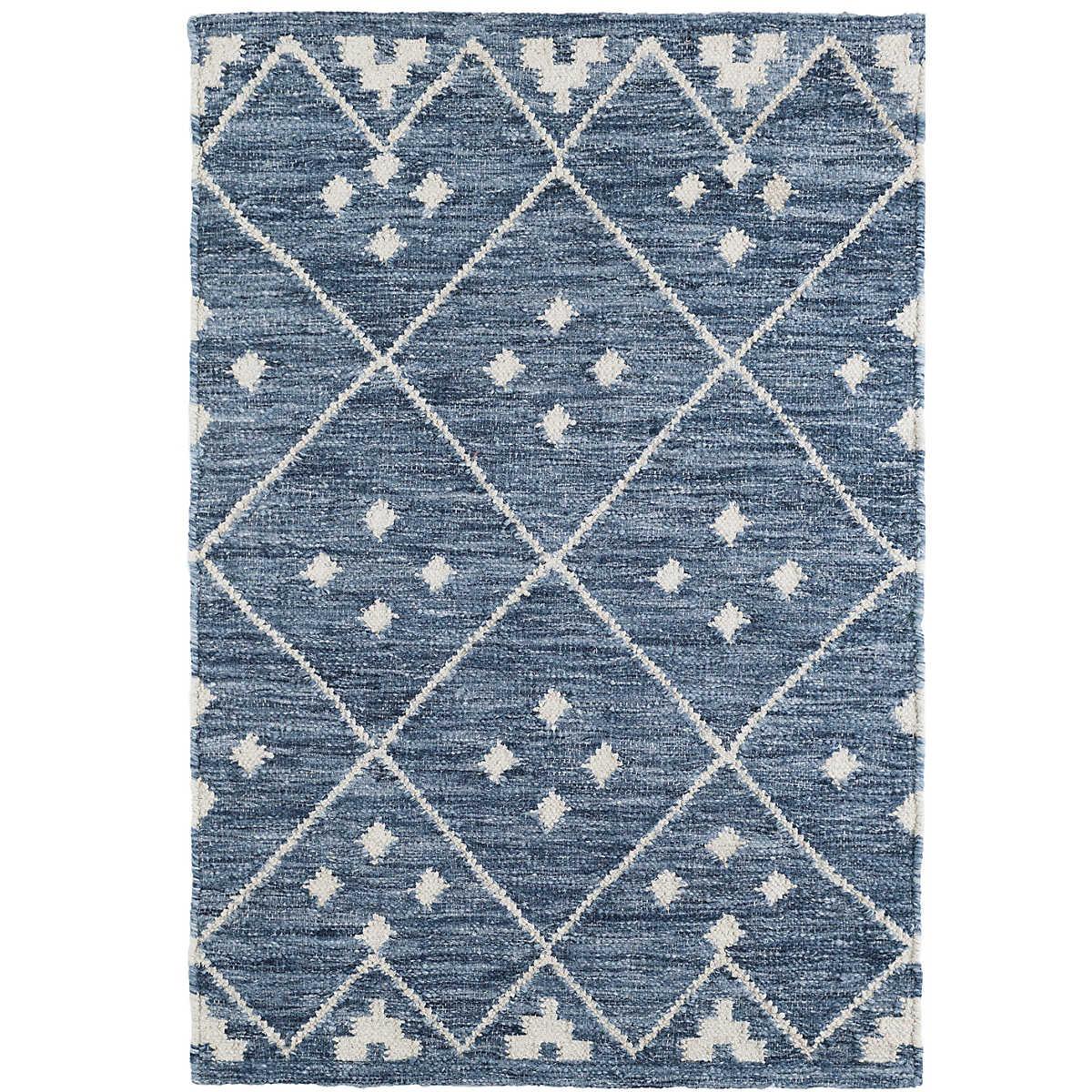 Kota Indigo Woven Wool Rug Dash Amp Albert
