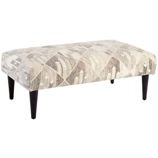 Kota Natural Tapered Tobacco Leg Rug Ottoman