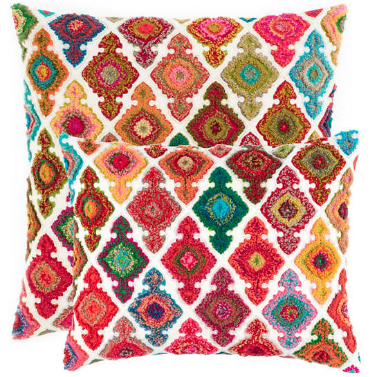 Kulu Embroidered Bright Decorative Pillow