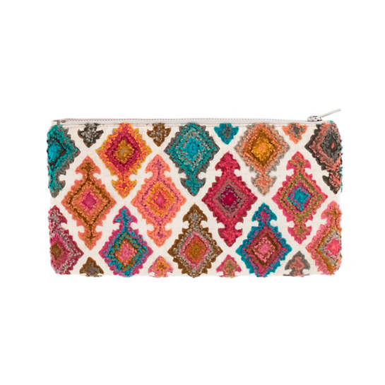 Kulu Embroidered Pastel Clutch