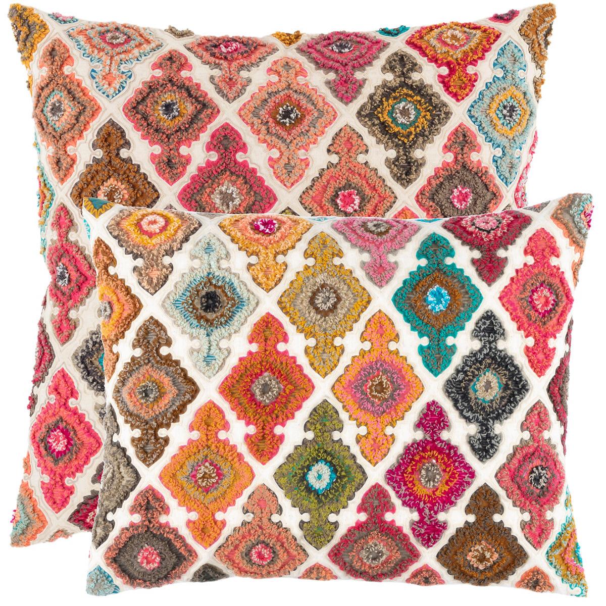 Kulu Embroidered Decorative Pillow