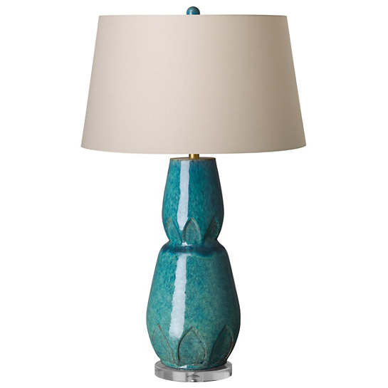 Mod Facet Turquoise Lamp