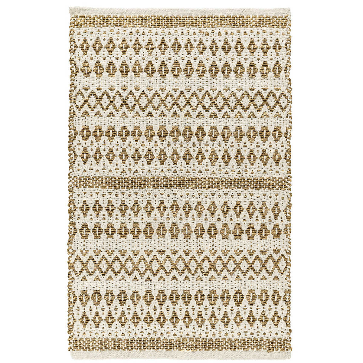 La Palma Natural Woven Jute Cotton Rug Dash Amp Albert