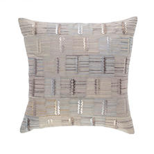 Lamellae Embroidered Decorative Pillow