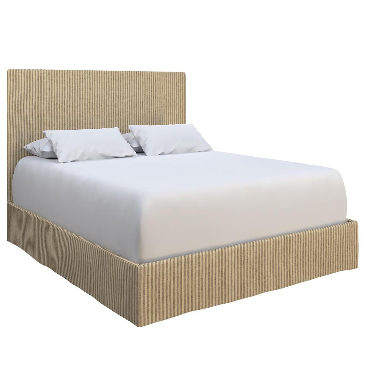 Adams Ticking Brown Langston Bed