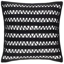 Lanyard Black Indoor/Outdoor Decorative Pillow