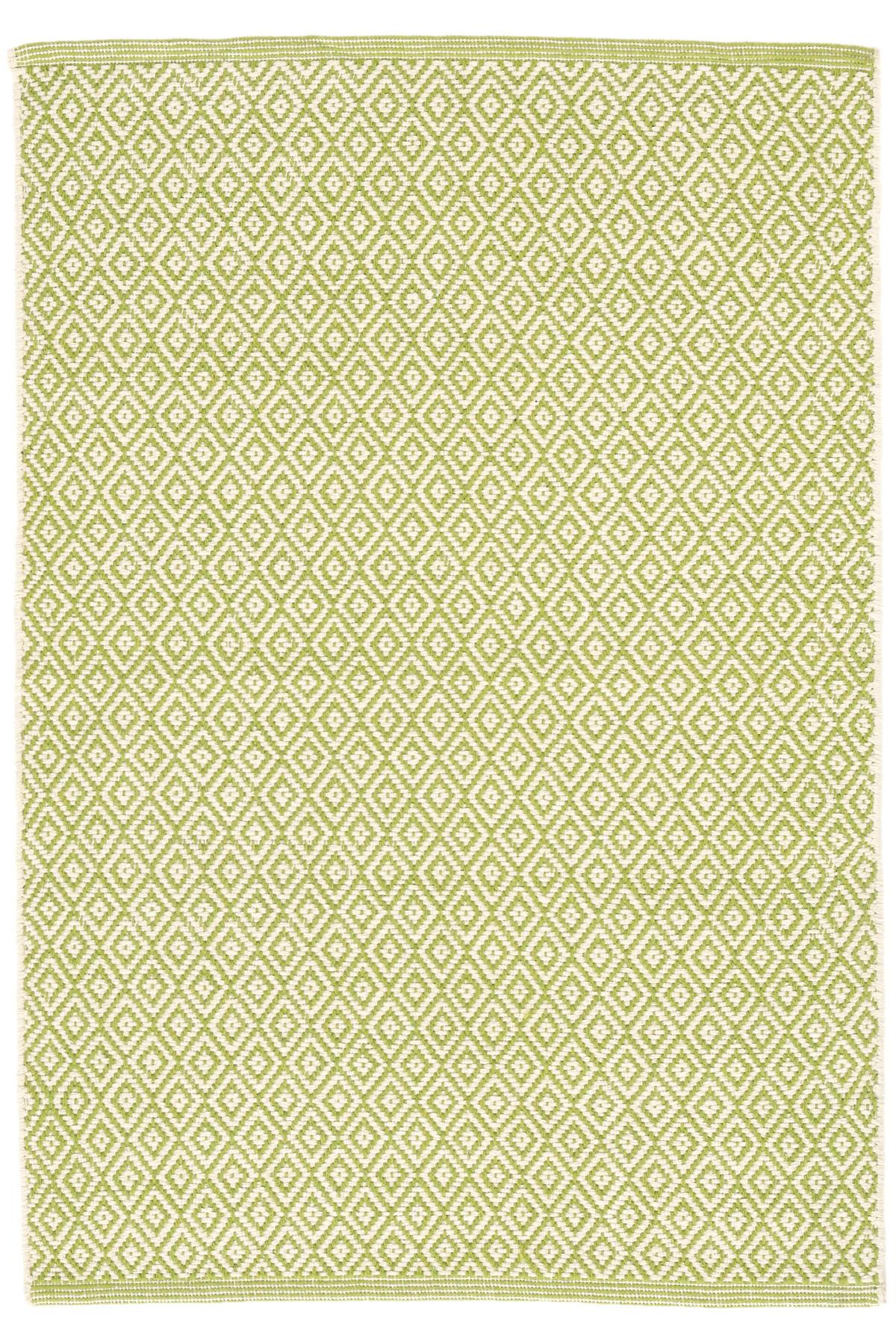 Lattice Citrus Woven Cotton Rug