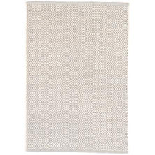 Lattice Dove Grey Woven Cotton Rug