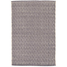 Lattice Indigo Woven Cotton Rug