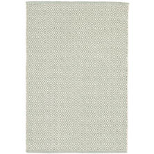 Lattice Ocean Woven Cotton Rug