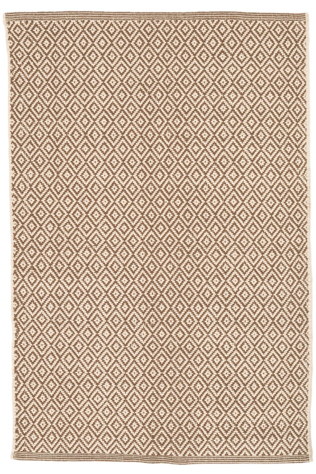 Lattice Stone Woven Cotton Rug