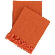Laundered Cotton Terra-Cotta Throw