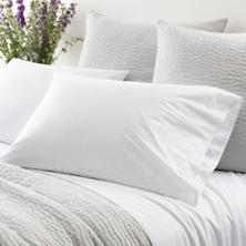Laundered Hem White Pillowcases