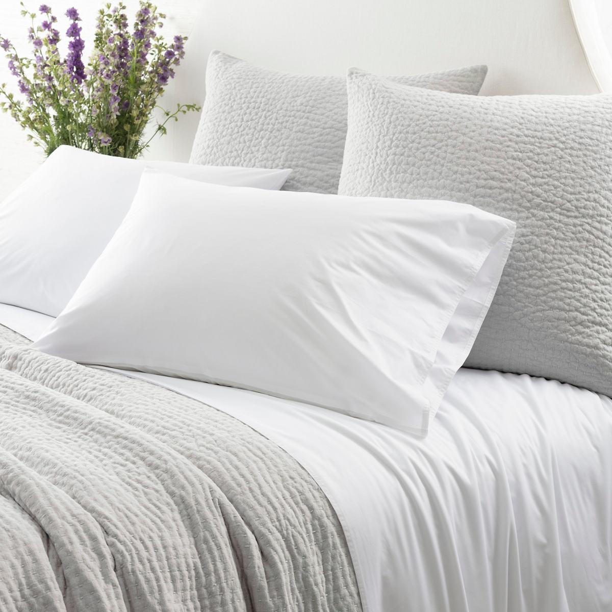 Laundered Hem White Sheet Set