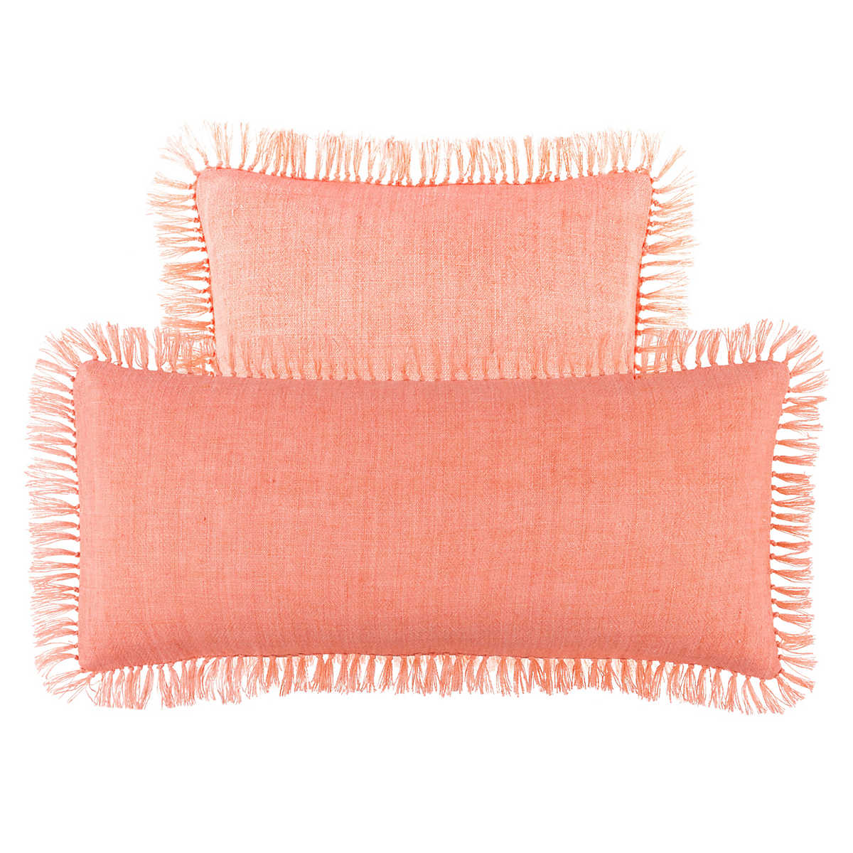 Laundered Linen Coral Decorative Pillow Pine Cone Hill
