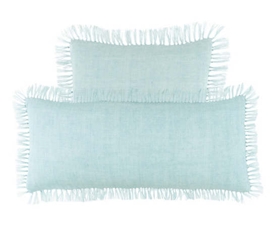 Laundered Linen Sky Decorative Pillow