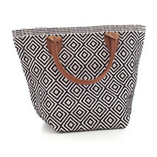 Le Tote Black/Ivory Tote Bag Petit