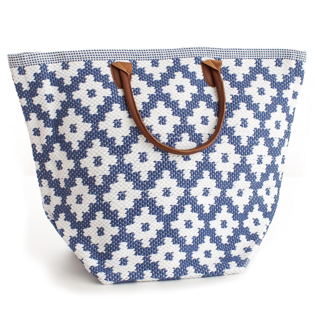 Le Tote Denim/White Tote Bag Grand