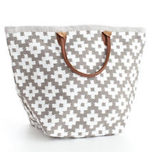 Le Tote Fieldstone/White Tote Bag Grand