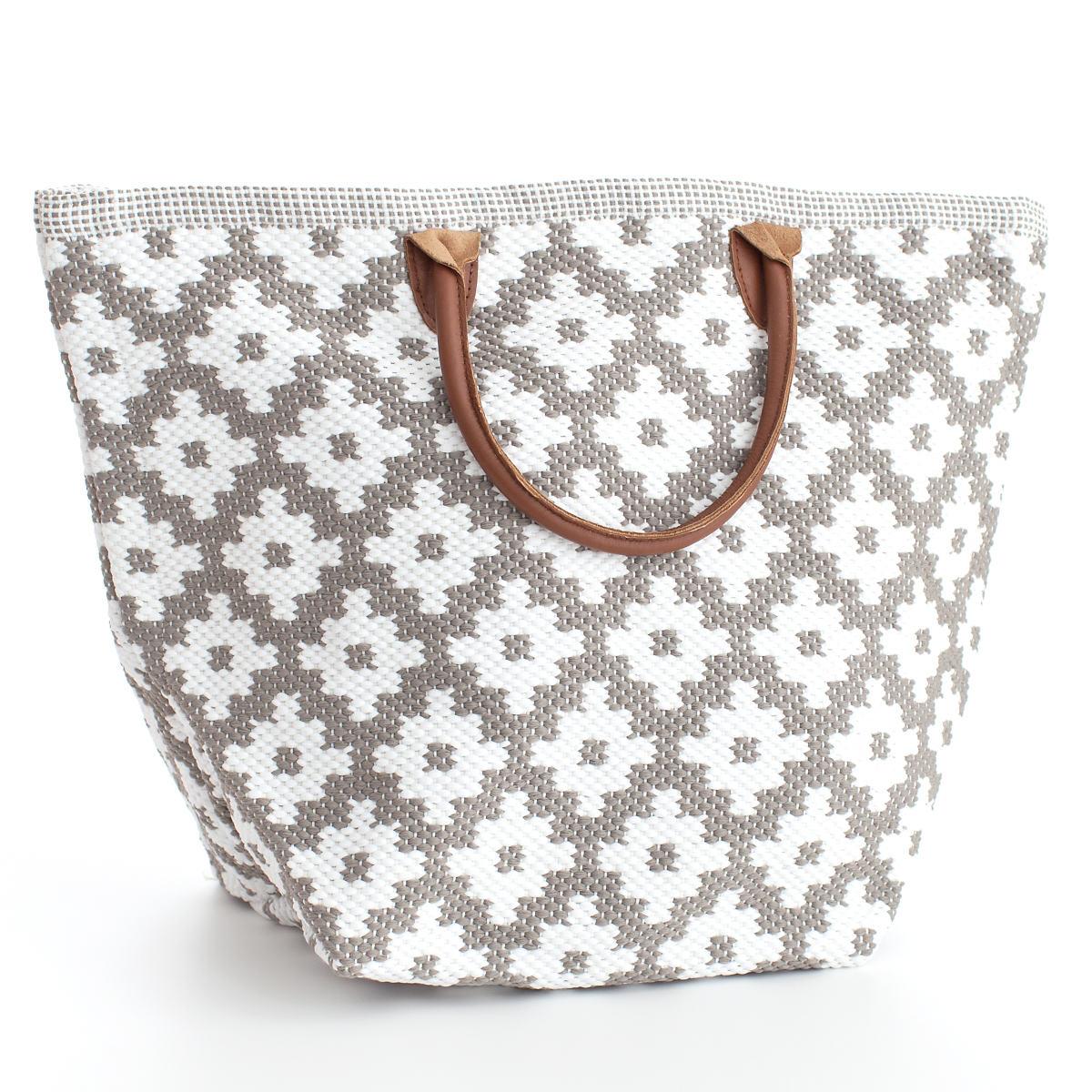 Le Tote Fieldstone/White Tote Bag Grand