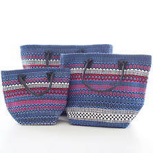 Le Tote Fiesta Stripe Blue/Red Tote Bag