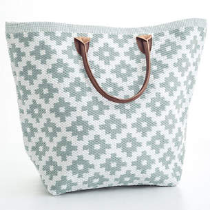 Le Tote Light Blue White Bag Grand