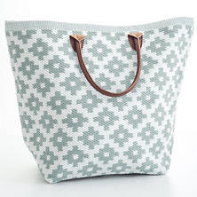 Le Tote Light Blue/White Tote Bag Grand