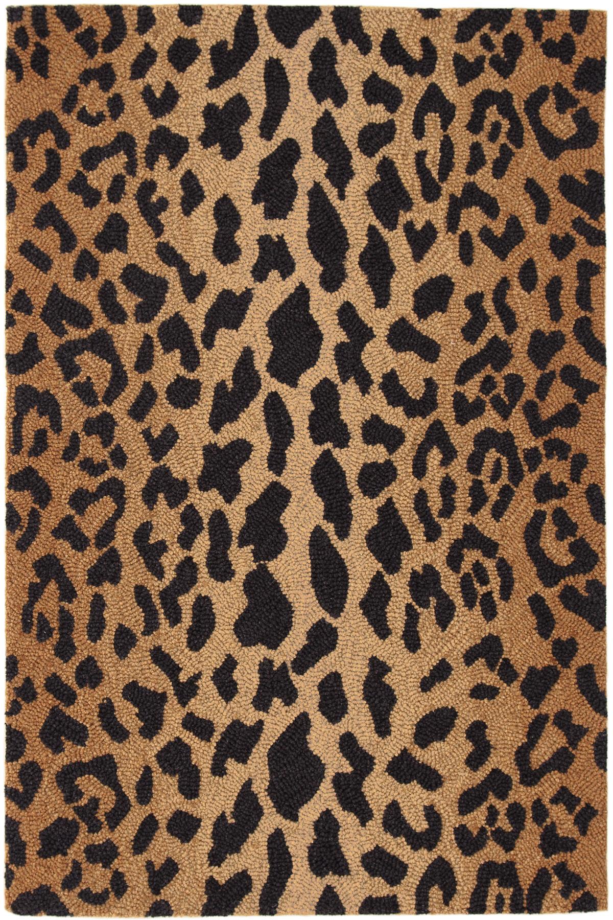 Leopard Micro Hooked Wool Rug Dash Amp Albert