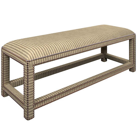 Adams Ticking Brown Lexington Bench