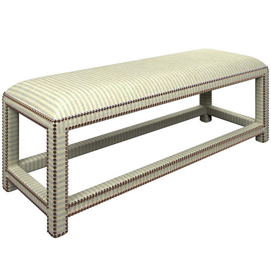 Adams Ticking Light Blue Lexington Bench