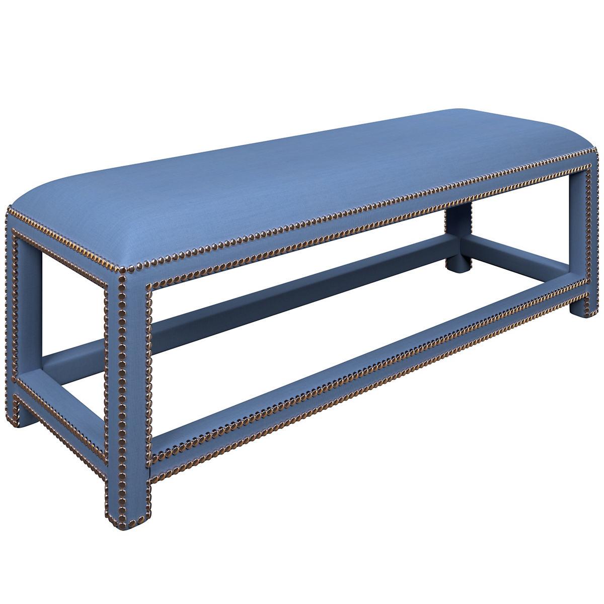 Estate Linen French Blue Lexington Bench