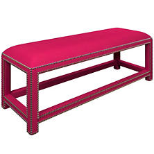 Estate Linen Fuchsia Lexington Bench