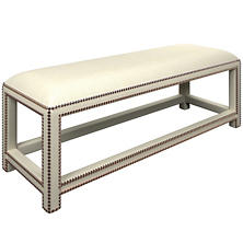 Estate Linen Ivory Lexington Bench