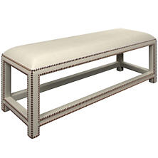Estate Linen Pearl Grey Lexington Bench