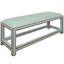 Estate Linen Powder Blue Lexington Bench