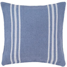 Cape Stripe Denim/White Indoor/Outdoor Pillow