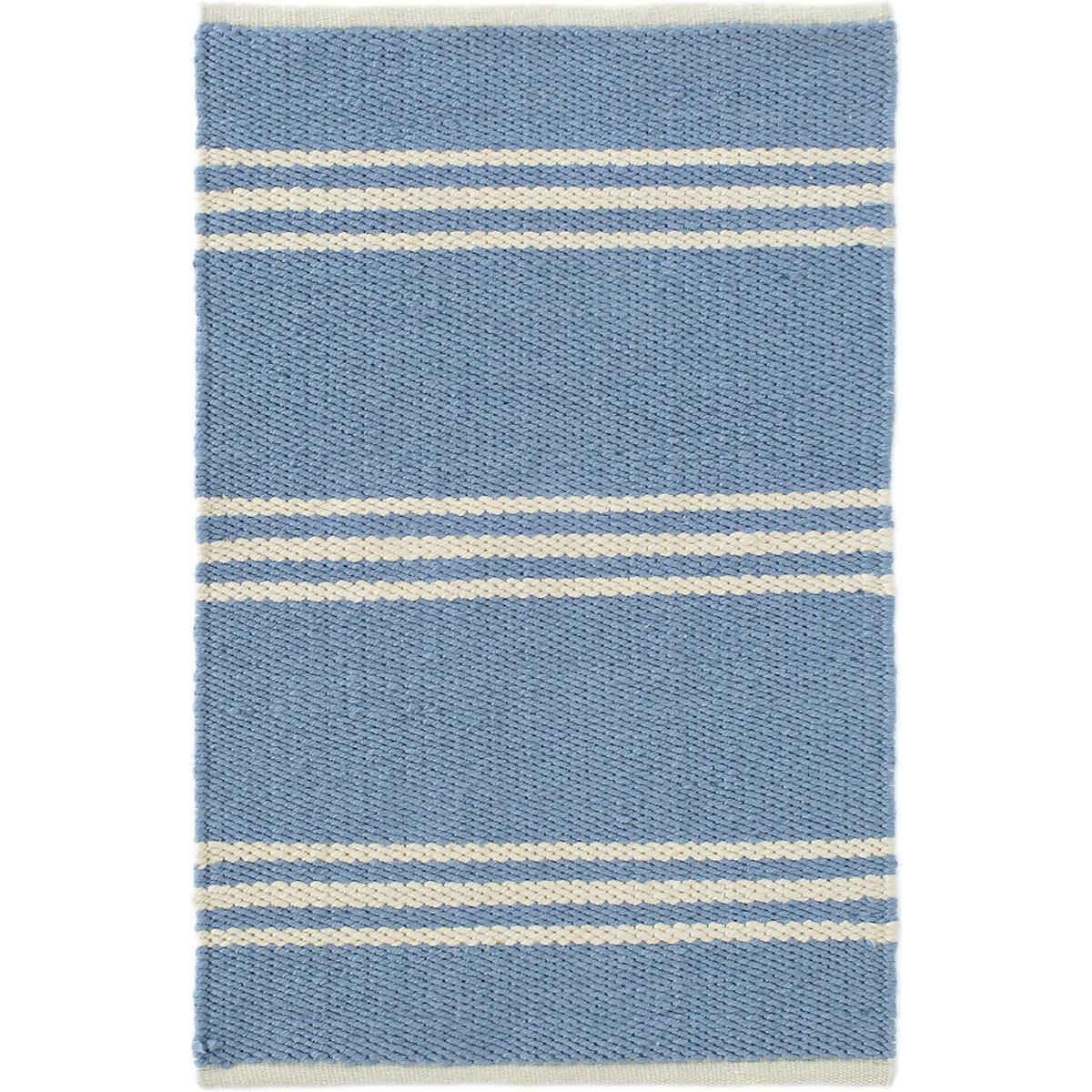 Lexington French Blue/Ivory Indoor/Outdoor Rug | Dash & Albert