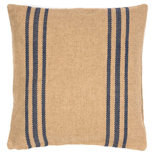 Cape Stripe Navy/Camel Indoor/Outdoor Pillow