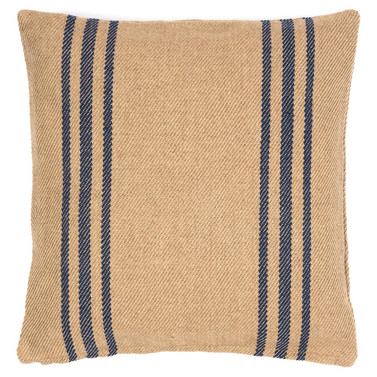 Lexington Navy/Camel Indoor/Outdoor Pillow | Fresh American