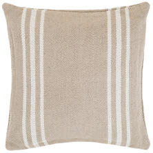 Cape Stripe Platinum/White Indoor/Outdoor Pillow