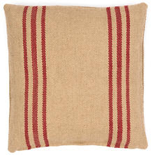 Cape Stripe Red/Camel Indoor/Outdoor Pillow