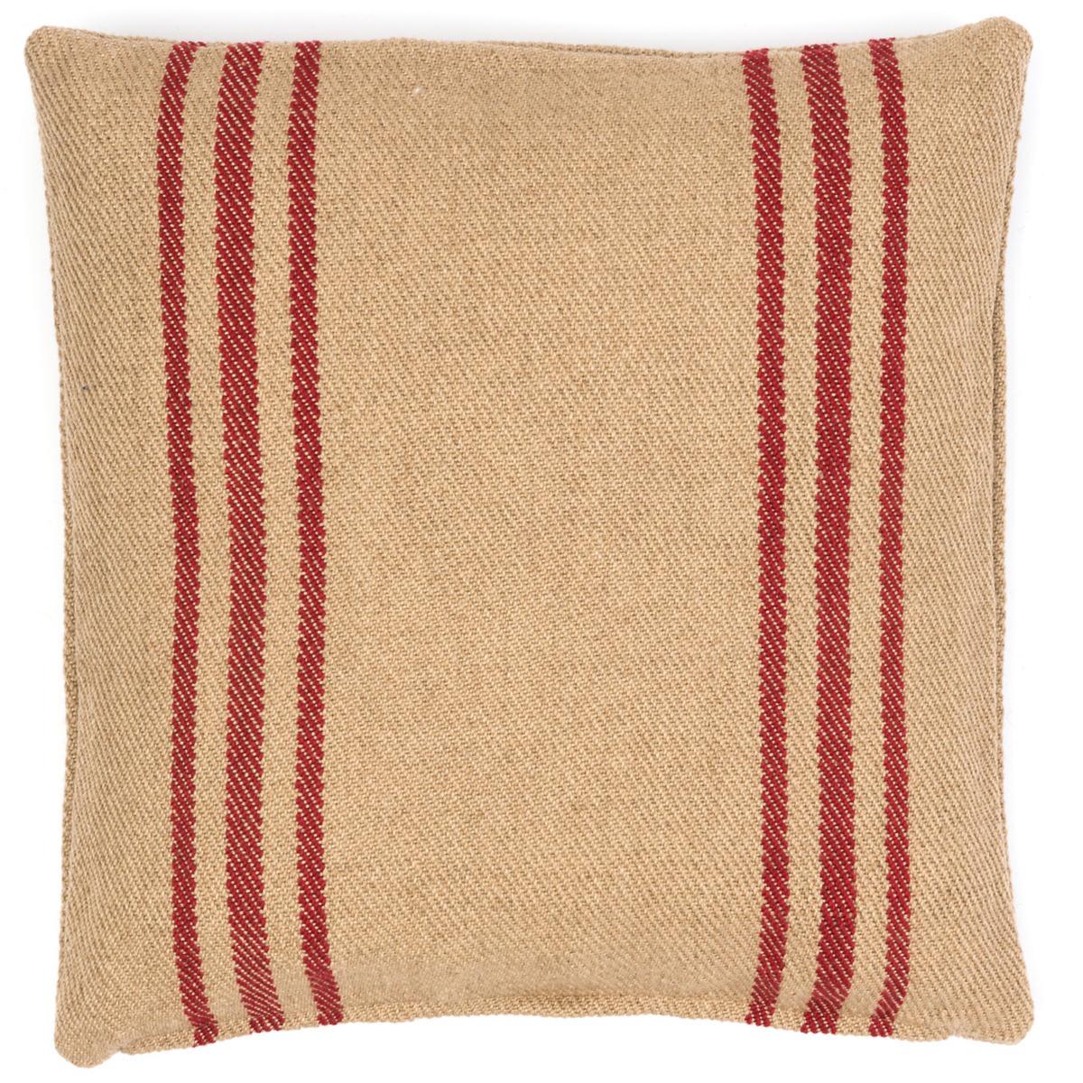 Cape Stripe Red/Camel Indoor/Outdoor Pillow