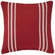 Cape Stripe Red/White Indoor/Outdoor Pillow