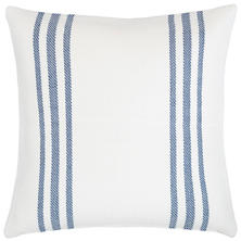 Cape Stripe White/Denim Indoor/Outdoor Pillow